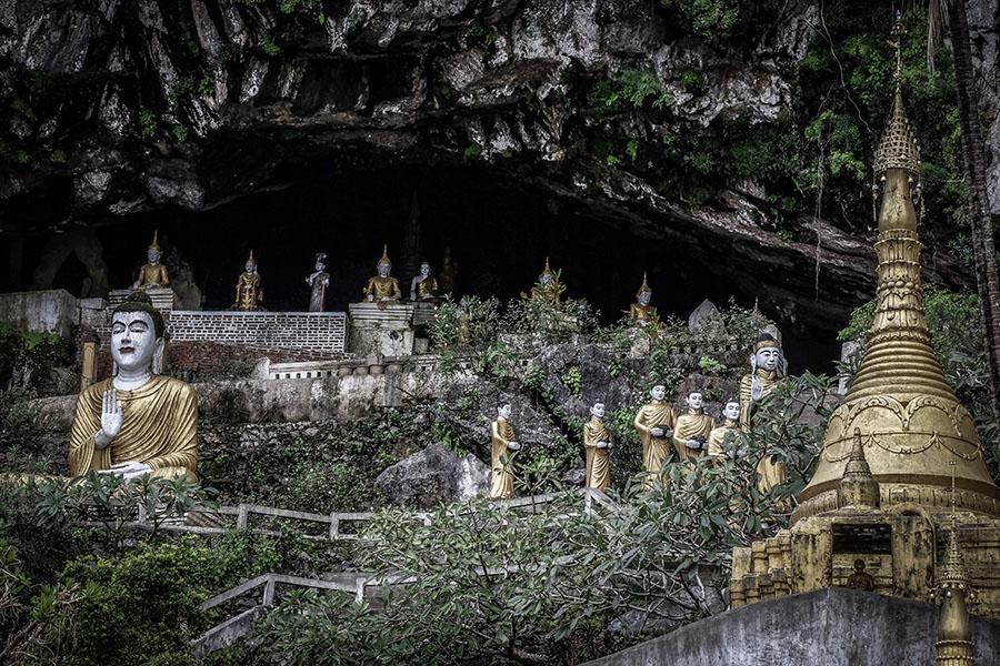 los budas en las cuevas de hpa-an