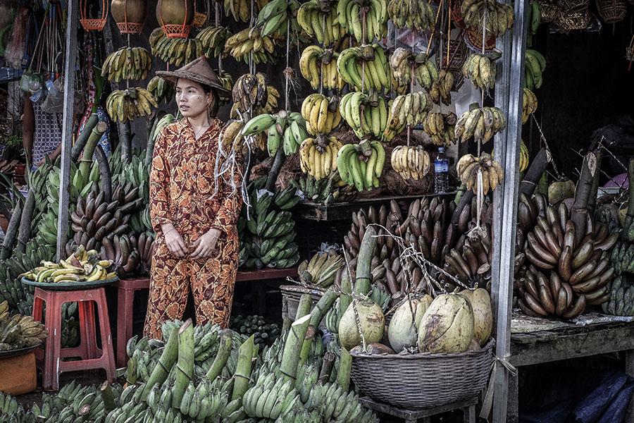 los mercados de Myanmar