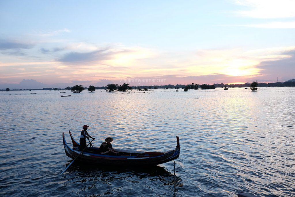 atardecer lago inle 1024x683 - Las puestas de sol de Myanmar