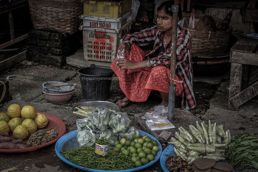 mercado de hpa an 2 - Hpa-an, descubre las cuevas de Buda en Myanmar