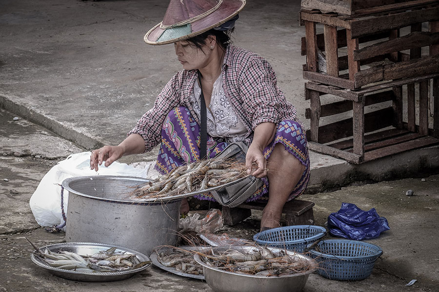 mercado de hpa an 3 - Hpa-an, descubre las cuevas de Buda en Myanmar