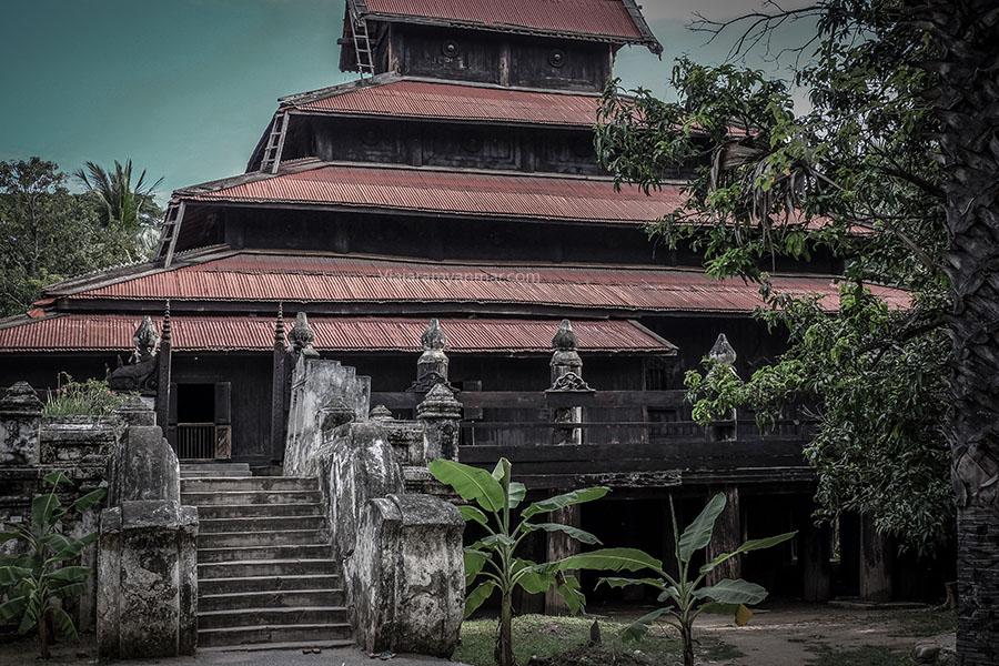 monasterio madera mandalay
