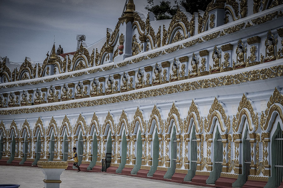 templo azul sagaing - Viajar a Myanmar por libre
