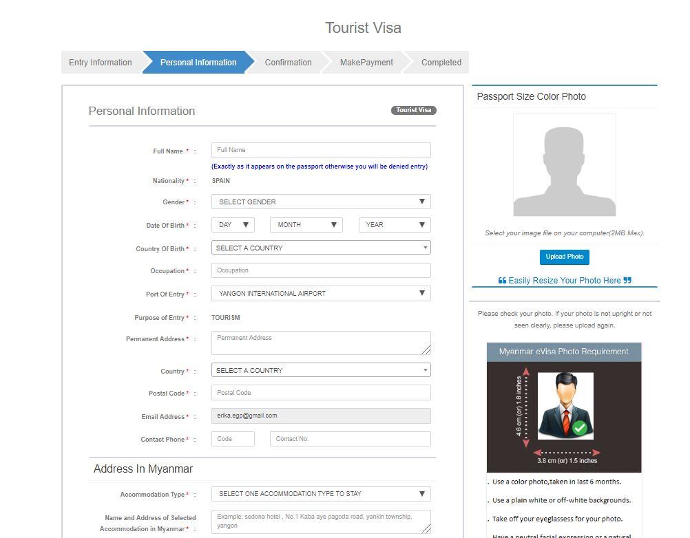 visado online myanmar - Cómo hacer el visado Myanmar online