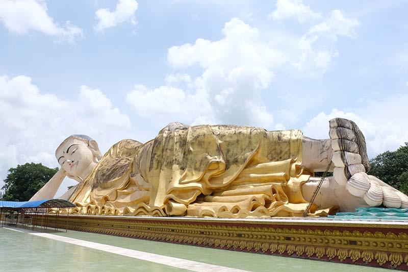 buda tumbado bago - Ciudades de Myanmar