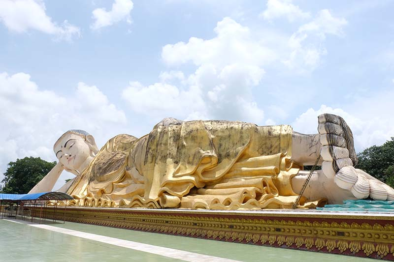 buda tumbado bago - Myanmar guia de viaje