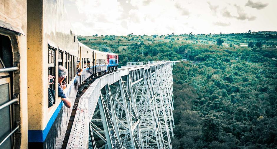 el viaducto de gokteik  - Myanmar guia de viaje
