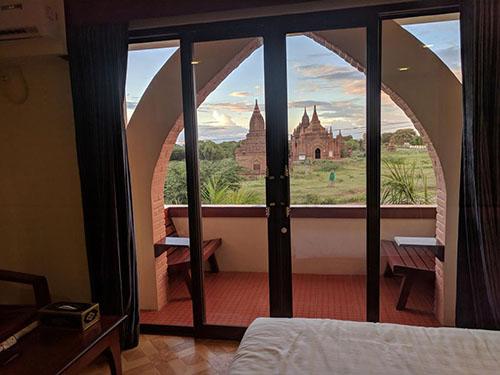 hotel bagan vistas templo - Los mejores hoteles de Myanmar